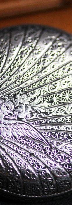 ロンジンの銀無垢アンティーク懐中時計-P2248-2