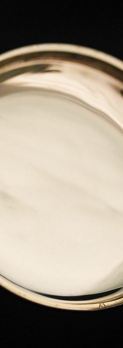 エルジンの金無垢懐中時計・花と蝶-P2250-15