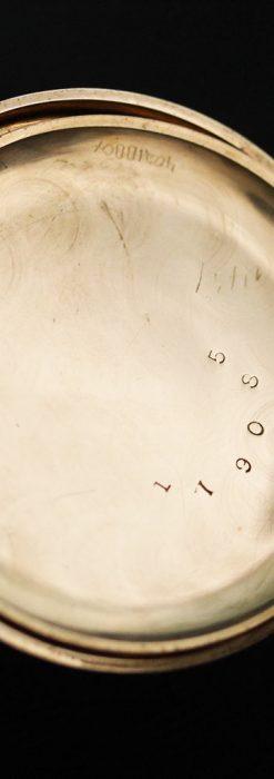 エルジンの金無垢懐中時計・花と蝶-P2250-18