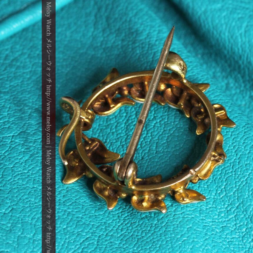 ロンジン金無垢装飾付きのアンティーク懐中時計-P2251-18