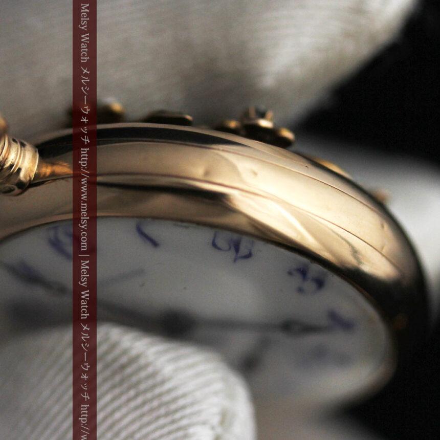 ロンジン金無垢装飾付きのアンティーク懐中時計-P2251-22