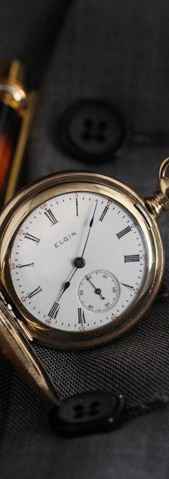 趣きあるエルジンの1904年製アンティーク懐中時計-P2252-2