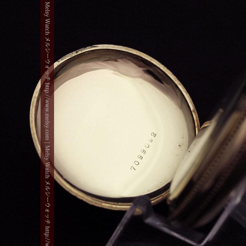 エルジン黄色い文字盤のアンティーク懐中時計-P2253-14