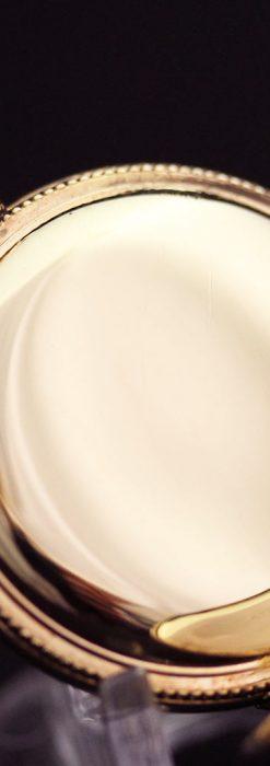 エルジン黄色い文字盤のアンティーク懐中時計-P2253-16