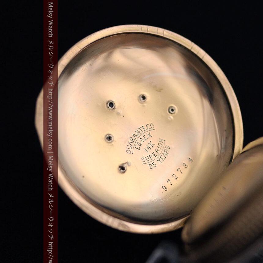 ウォルサムのダイヤモンド入りアンティーク懐中時計-P2254-13