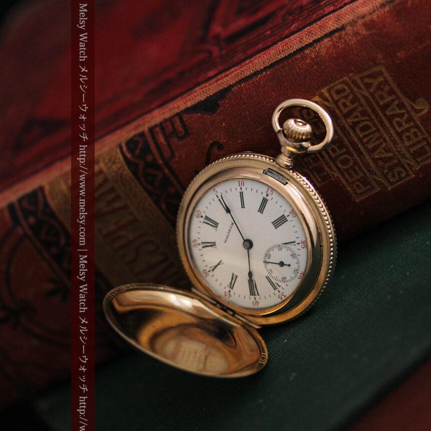 ウォルサムのダイヤモンド入りアンティーク懐中時計-P2254-4