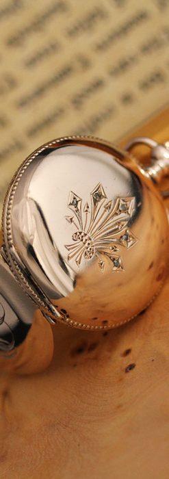 ウォルサムのダイヤモンド入りアンティーク懐中時計-P2254-6