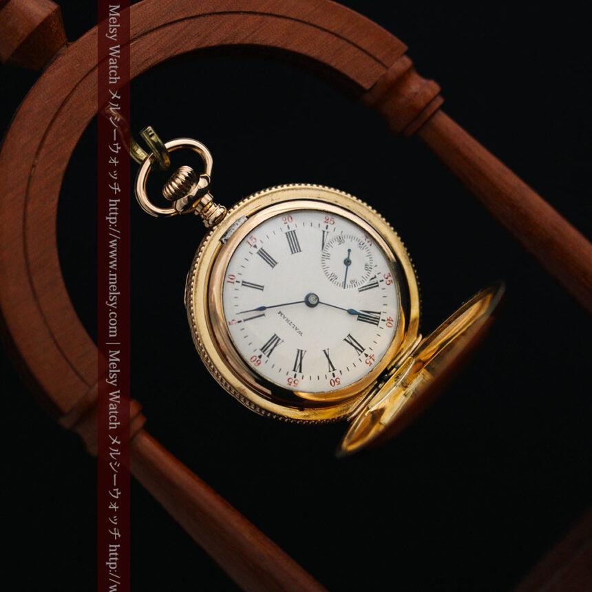 ウォルサムのダイヤモンド入りアンティーク懐中時計-P2254-8