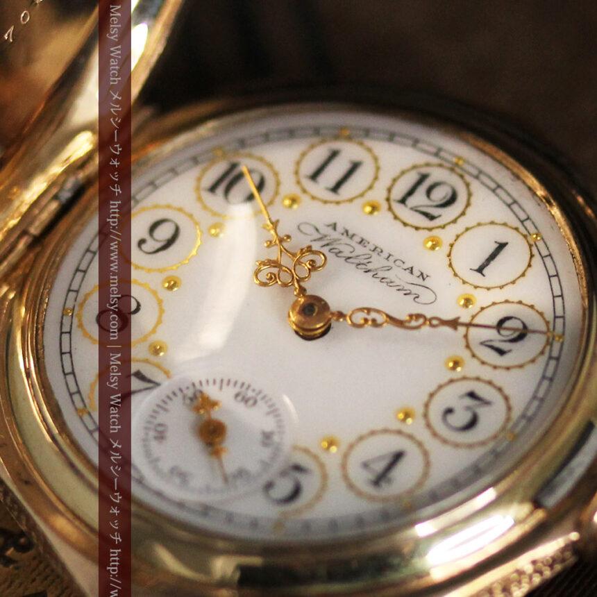 郷愁を誘うウォルサムのアンティーク懐中時計-P2255-11