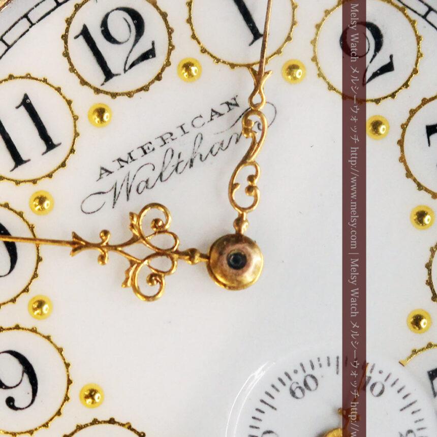 郷愁を誘うウォルサムのアンティーク懐中時計-P2255-12