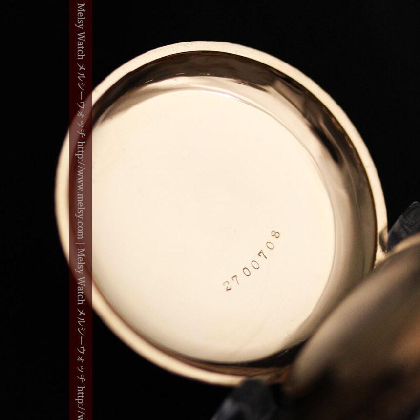 郷愁を誘うウォルサムのアンティーク懐中時計-P2255-13