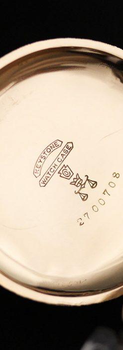 郷愁を誘うウォルサムのアンティーク懐中時計-P2255-14