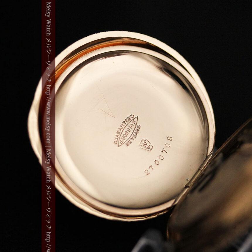 郷愁を誘うウォルサムのアンティーク懐中時計-P2255-16