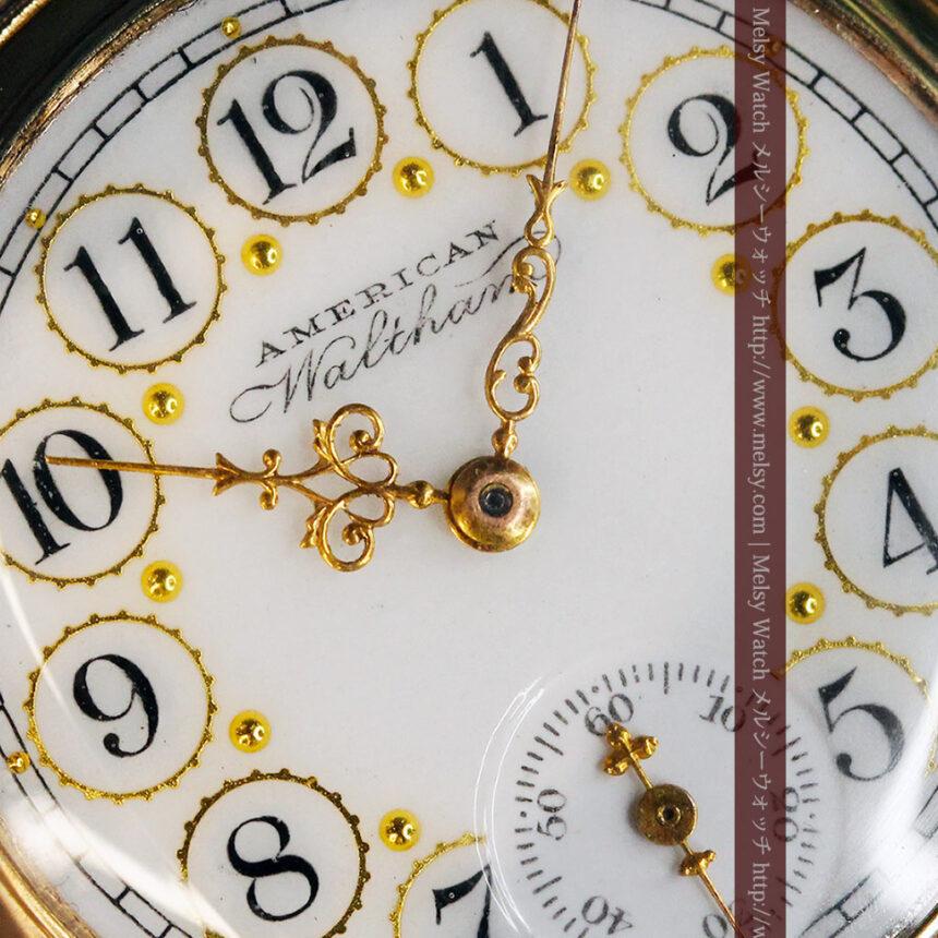 郷愁を誘うウォルサムのアンティーク懐中時計-P2255-2