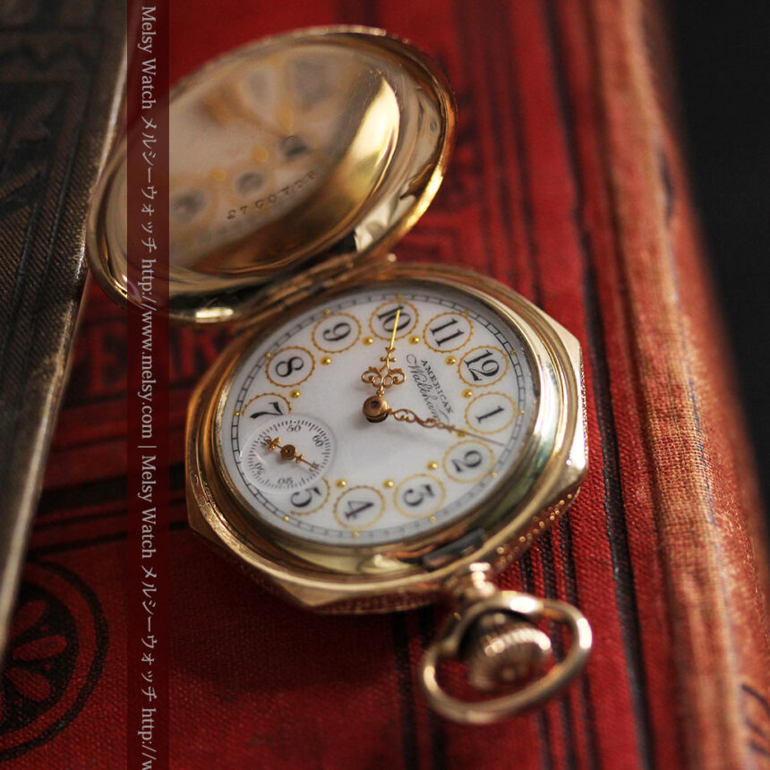 郷愁を誘うウォルサムのアンティーク懐中時計-P2255-3