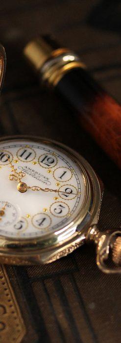 郷愁を誘うウォルサムのアンティーク懐中時計-P2255-5