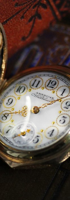 郷愁を誘うウォルサムのアンティーク懐中時計-P2255-6