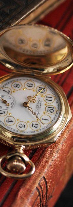 郷愁を誘うウォルサムのアンティーク懐中時計-P2255-7