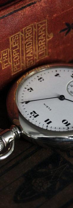 エルジンの素朴さが魅力のアンティーク懐中時計 【1904年製】-P2256-1