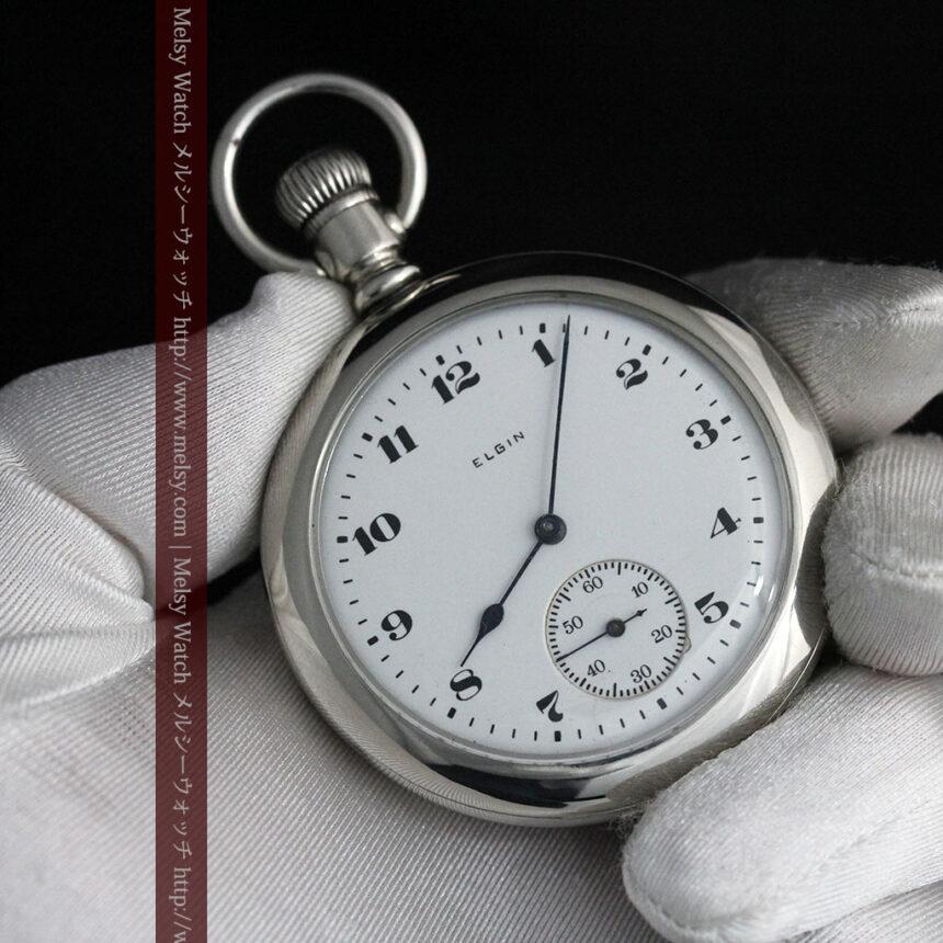 エルジンの素朴さが魅力のアンティーク懐中時計 【1904年製】-P2256-10