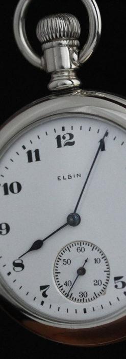 エルジンの素朴さが魅力のアンティーク懐中時計 【1904年製】-P2256-11