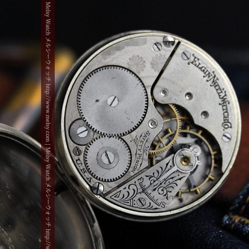 エルジンの素朴さが魅力のアンティーク懐中時計 【1904年製】-P2256-14