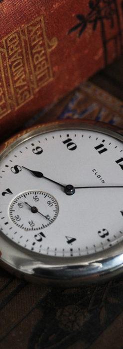 エルジンの素朴さが魅力のアンティーク懐中時計 【1904年製】-P2256-2