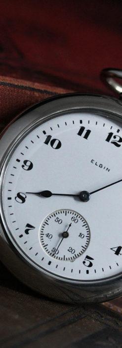 エルジンの素朴さが魅力のアンティーク懐中時計 【1904年製】-P2256-3