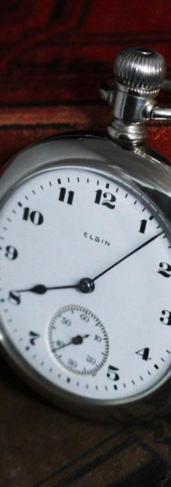エルジンの素朴さが魅力のアンティーク懐中時計 【1904年製】-P2256-4