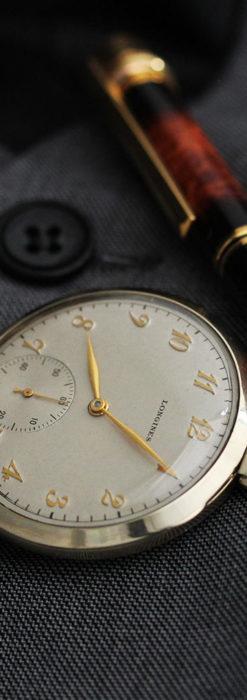 ロンジンの状態の良さが光るアンティーク懐中時計 【1948年製】-P2263-1