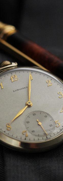 ロンジンの状態の良さが光るアンティーク懐中時計 【1948年製】-P2263-2