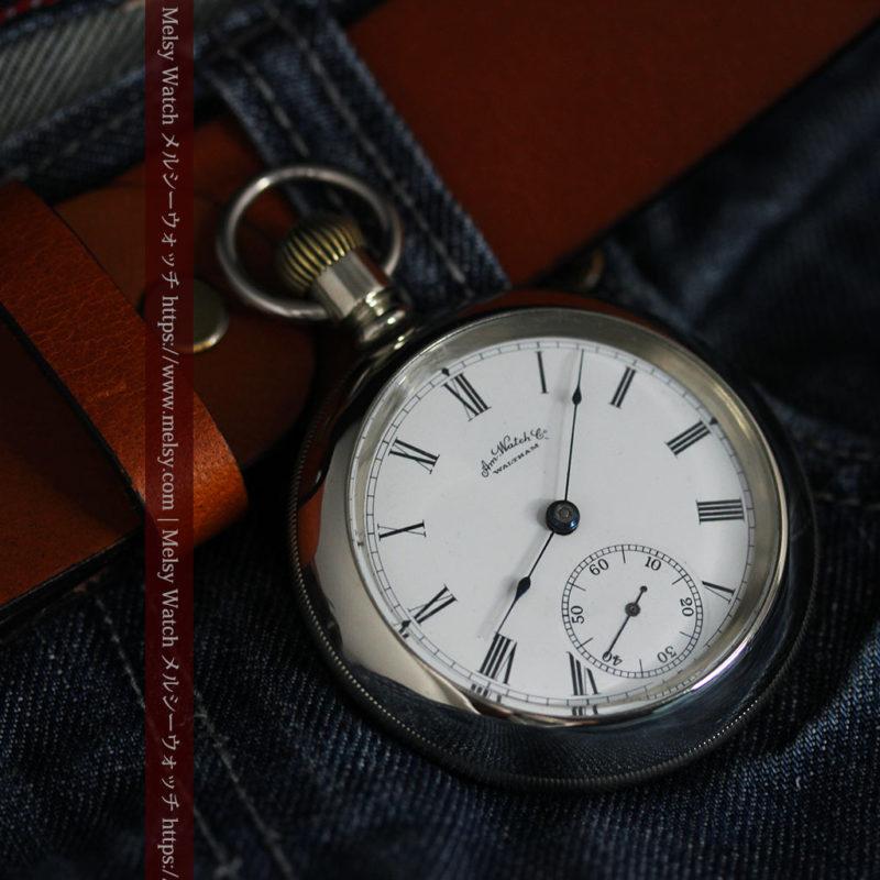 ウォルサムの存在感抜群の大きなアンティーク懐中時計 【1904年製】-P2257-1