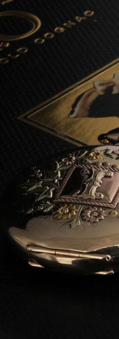 イニシャルIの金細工が美しいウォルサムのアンティーク懐中時計 【1898年製】-P2258-1