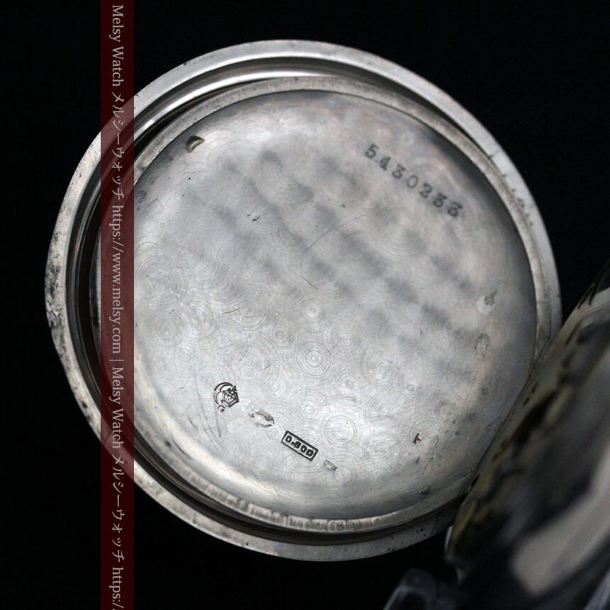 オメガの24時間表示の銀無垢アンティーク懐中時計 【1915年製】-P2259-12