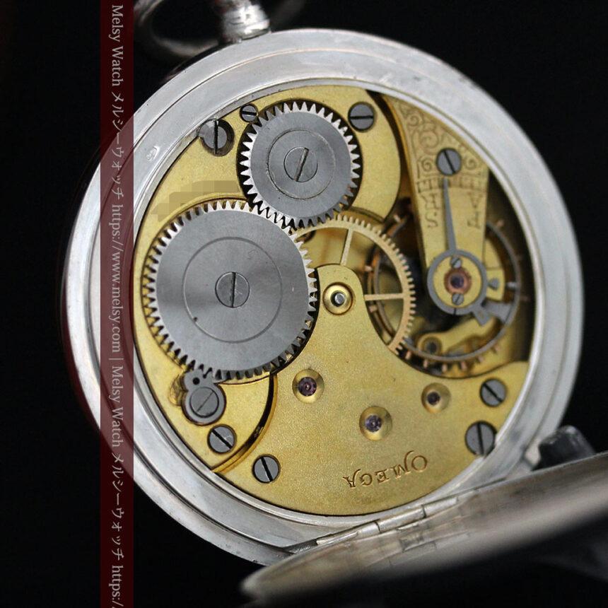 オメガの24時間表示の銀無垢アンティーク懐中時計 【1915年製】-P2259-13