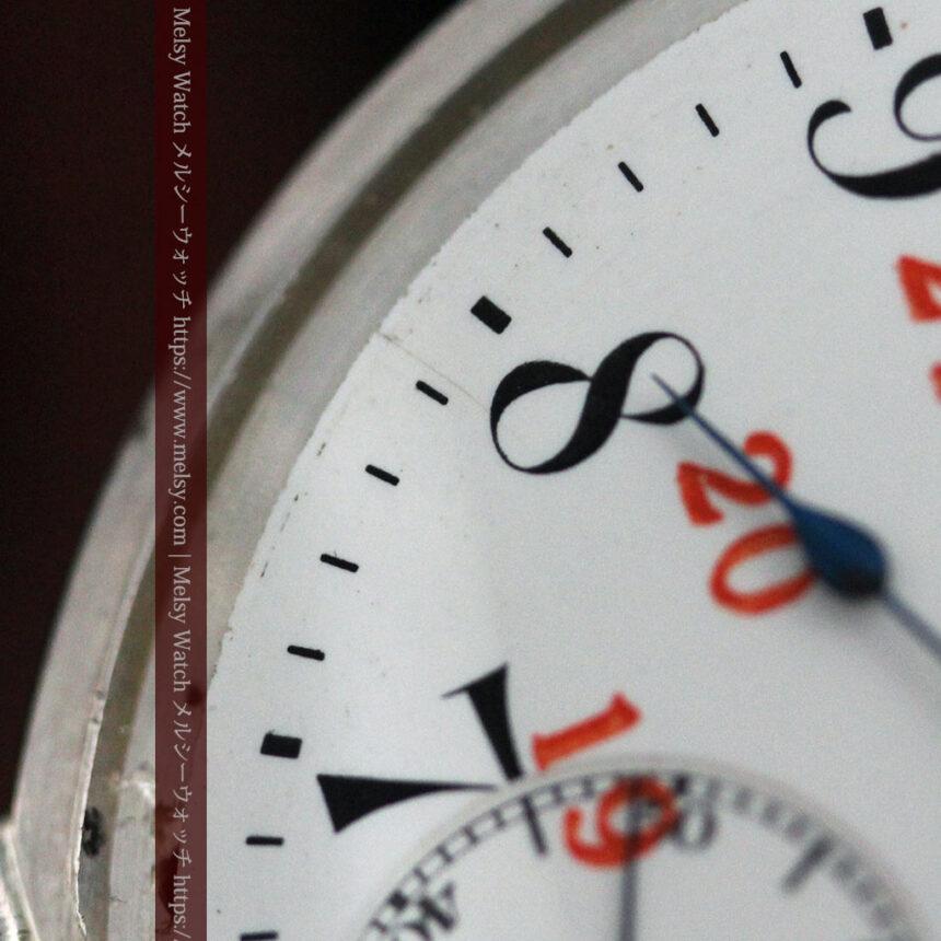 オメガの24時間表示の銀無垢アンティーク懐中時計 【1915年製】-P2259-16