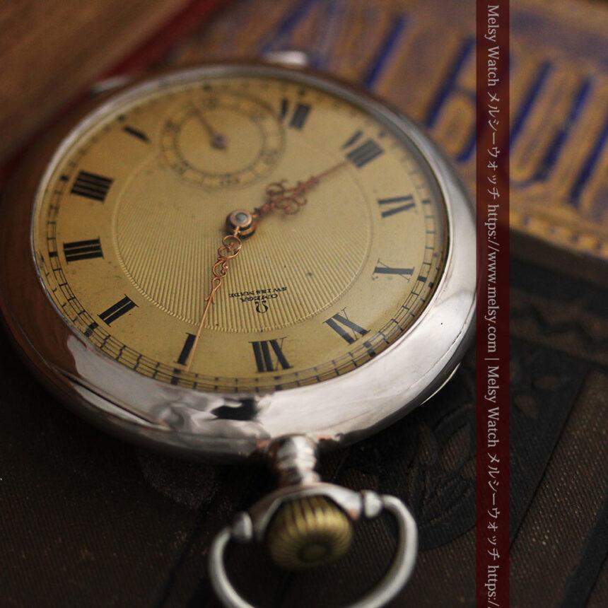 オメガの風格ある銀無垢アンティーク懐中時計 【1907年製】-P2260-1