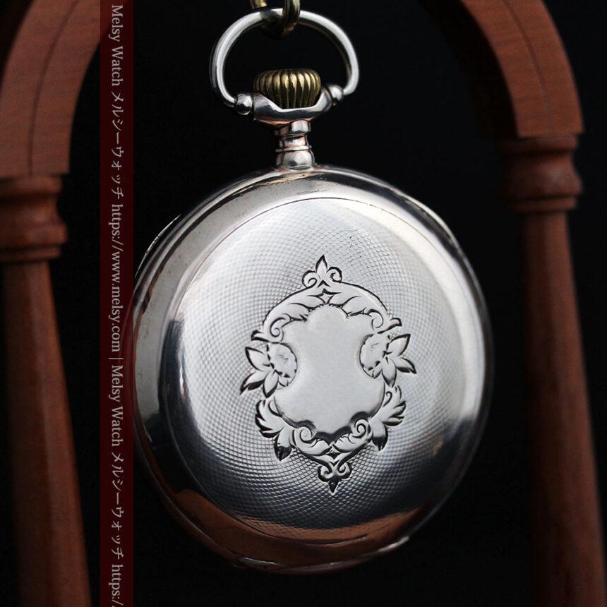 オメガの風格ある銀無垢アンティーク懐中時計 【1907年製】-P2260-10