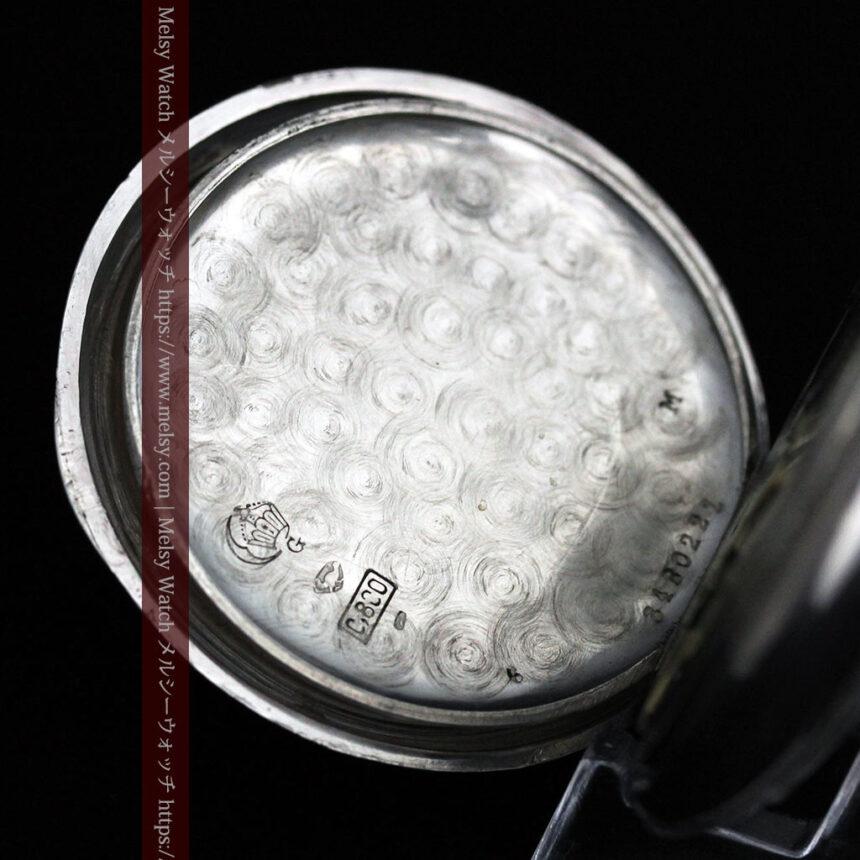オメガの風格ある銀無垢アンティーク懐中時計 【1907年製】-P2260-15