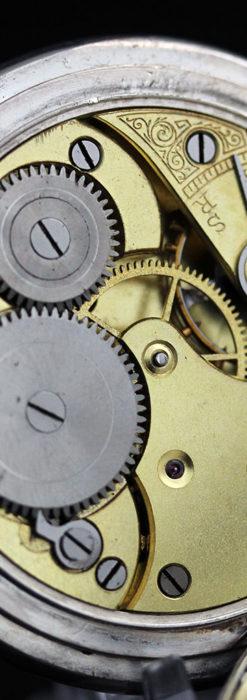 オメガの風格ある銀無垢アンティーク懐中時計 【1907年製】-P2260-16