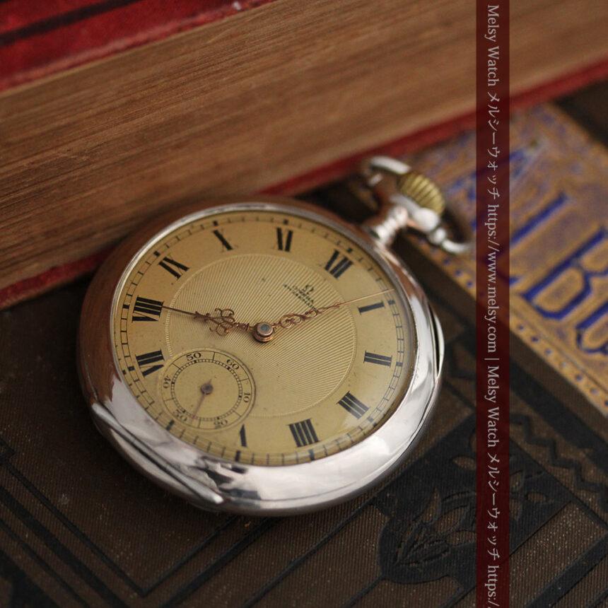 オメガの風格ある銀無垢アンティーク懐中時計 【1907年製】-P2260-2