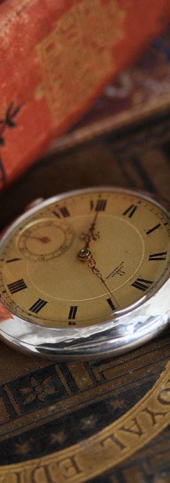 オメガの風格ある銀無垢アンティーク懐中時計 【1907年製】-P2260-4