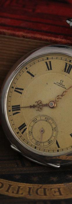 オメガの風格ある銀無垢アンティーク懐中時計 【1907年製】-P2260-6