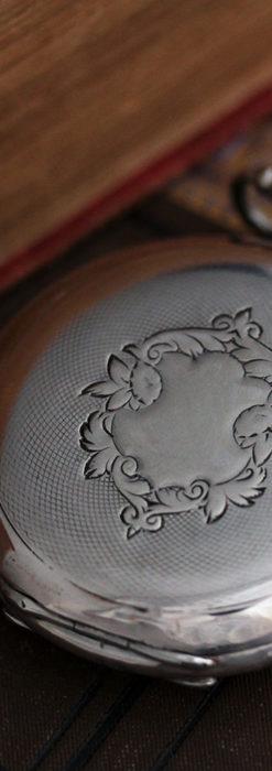 オメガの風格ある銀無垢アンティーク懐中時計 【1907年製】-P2260-7
