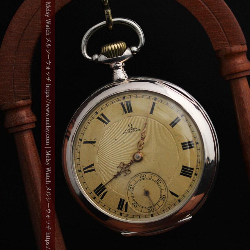 オメガの風格ある銀無垢アンティーク懐中時計 【1907年製】-P2260-8