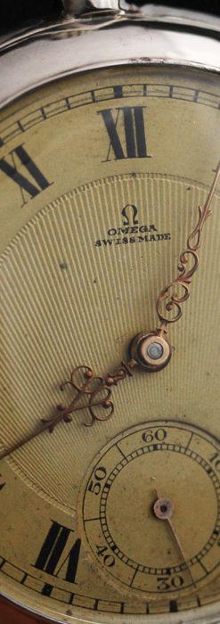 オメガの風格ある銀無垢アンティーク懐中時計 【1907年製】-P2260-9