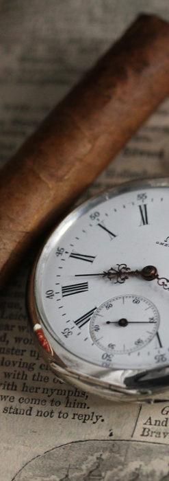 オメガの3世紀を繋ぐ銀無垢アンティーク懐中時計 【1896年製】-P2261-1