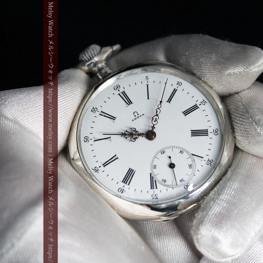 オメガの3世紀を繋ぐ銀無垢アンティーク懐中時計 【1896年製】-P2261-10