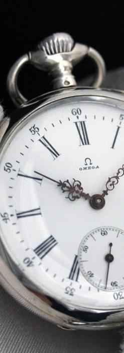オメガの3世紀を繋ぐ銀無垢アンティーク懐中時計 【1896年製】-P2261-11