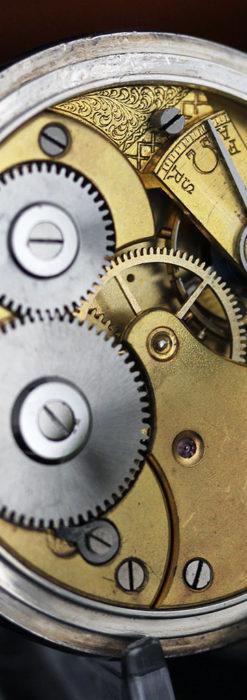 オメガの3世紀を繋ぐ銀無垢アンティーク懐中時計 【1896年製】-P2261-15